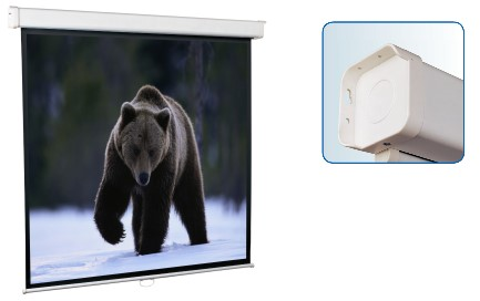 Настенный экран ScreenMedia Economy, формат 153*203см (95'') 4:3 MW, 4-уг. корпус SEM-4303