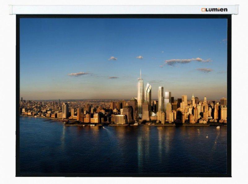 [LMP-100112] Настенный экран Lumien Master Picture 229х305 см Matte White FiberGlass, черн. кайма по периметру, воз-сть потолочного крепления 4:3