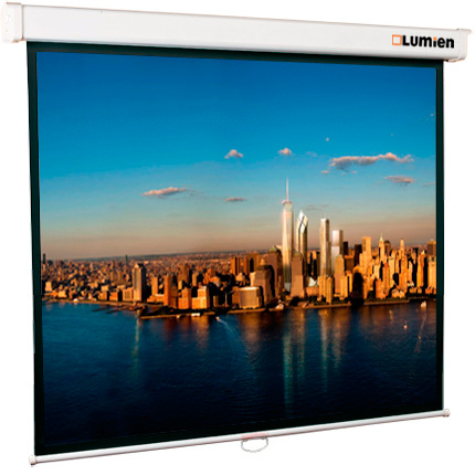 [LMP-100116] Настенный экран Lumien Master Picture 189х240 см Matte White FiberGlass, черн. кайма по периметру, доп. черн. кайма сверху 51 см 16:9