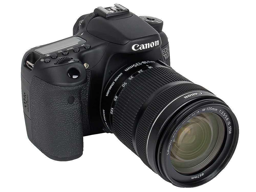 Фотоаппарат Canon EOS 70D KIT (зеркальный, 20.2Mp, WiFi, ISO12800, EF18-135 IS STM, 3, SDHC) canon eos 50d kit ef s 18 200