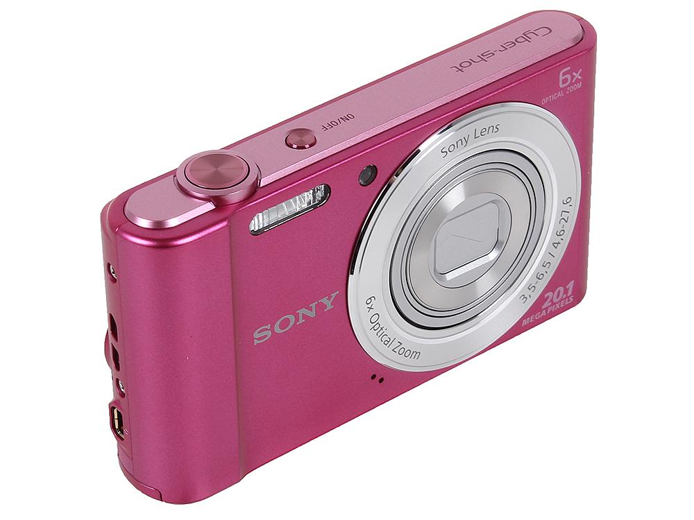Фотоаппарат SONY DSC-W810P Pink (20Mp, 6x zoom, 2.7