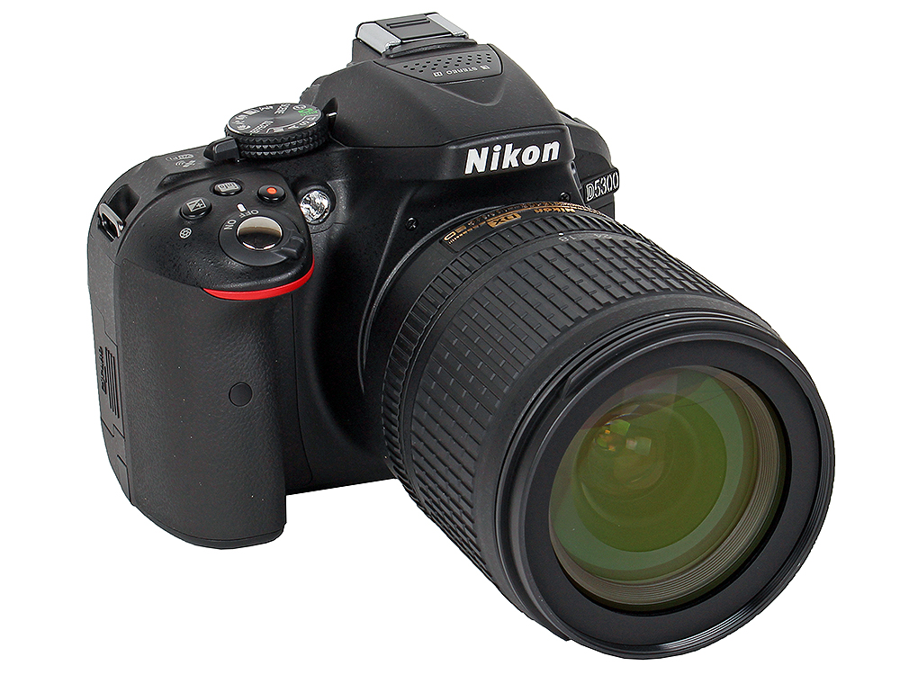 Фотоаппарат Nikon D5300 Black KIT (DX 18-105 VR 24.1Mp, 3 WiFi, GPS) фотоаппарат зеркальный nikon d3400 kit 18 105 vr