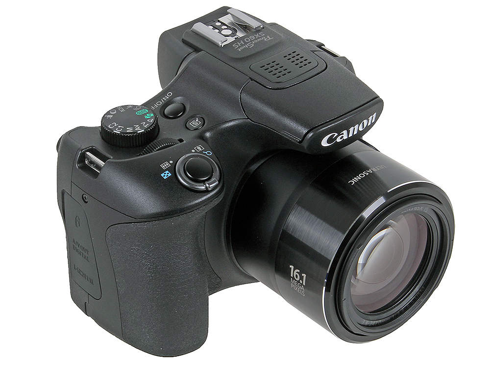 Фотоаппарат Canon PowerShot SX60 HS Black (16,8Mp, 65x zoom, Оптический стабилизатор, SD, WiFi, USB)