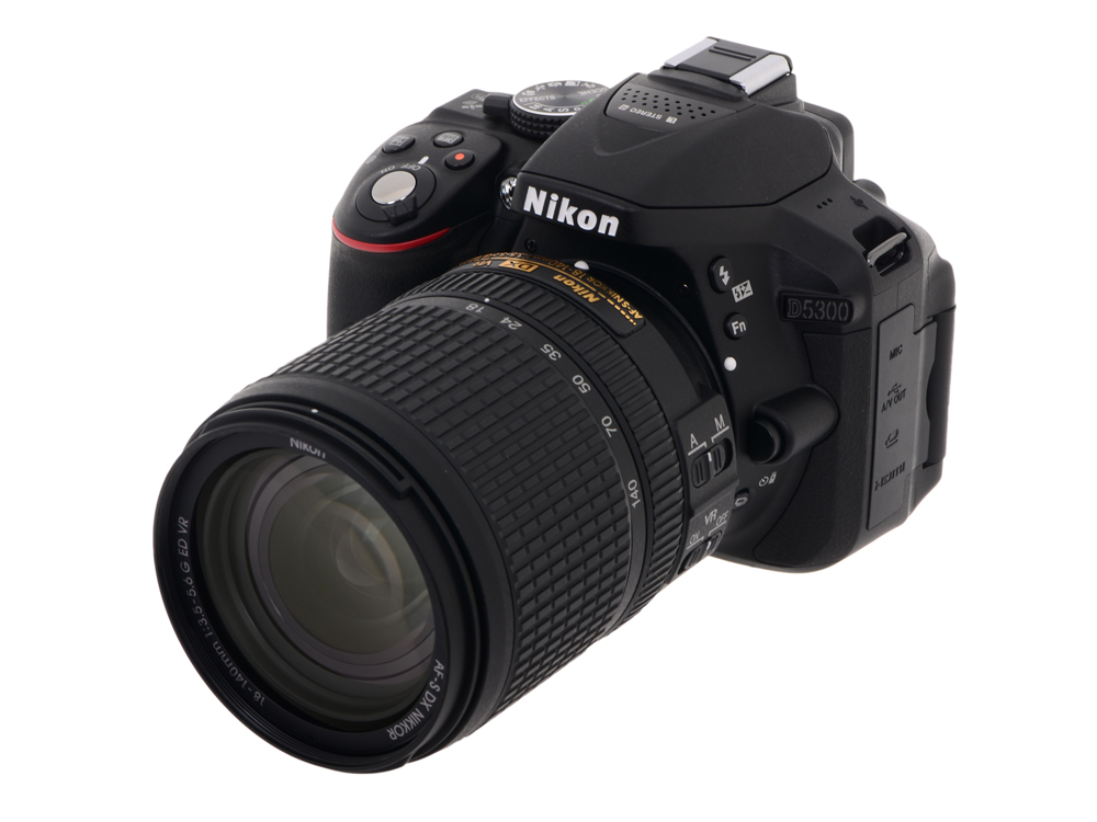Фотоаппарат Nikon D5300 Black KIT (DX 18-140 24.1Mp, 3 WiFi, GPS)