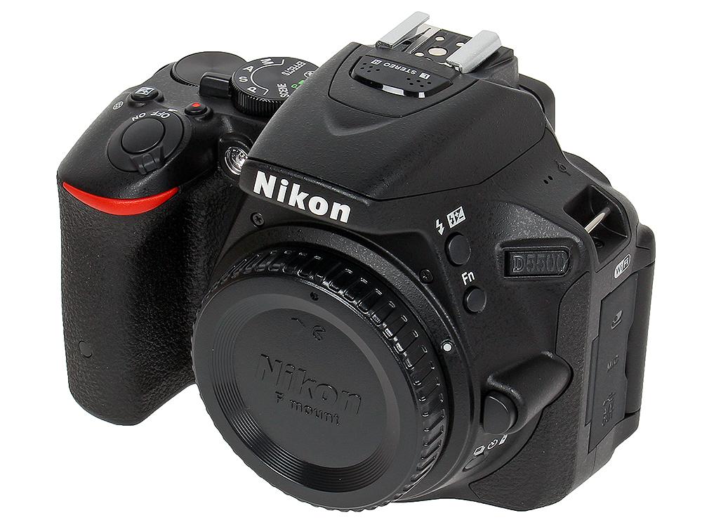 Фотоаппарат Nikon D5500 Black Body (24.1Mp, 3.2 WiFi, GPS) купить nikon d80 body петербург