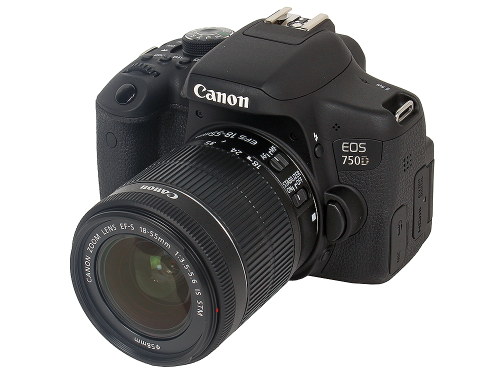 Фотоаппарат Canon EOS 750D EF-S 18-55 IS STM Kit фотоаппарат зеркальный canon eos 200d ef s 18 55 is stm kit black