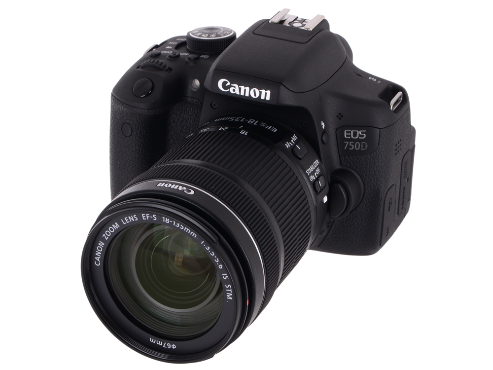 Фотоаппарат Canon EOS 750D EF-S 18-135 STM Kit зеркальный фотоаппарат canon eos 750d kit ef s 18 55mm f 3 5 5 6 is stm и ef 50mm f 1 8 stm черный
