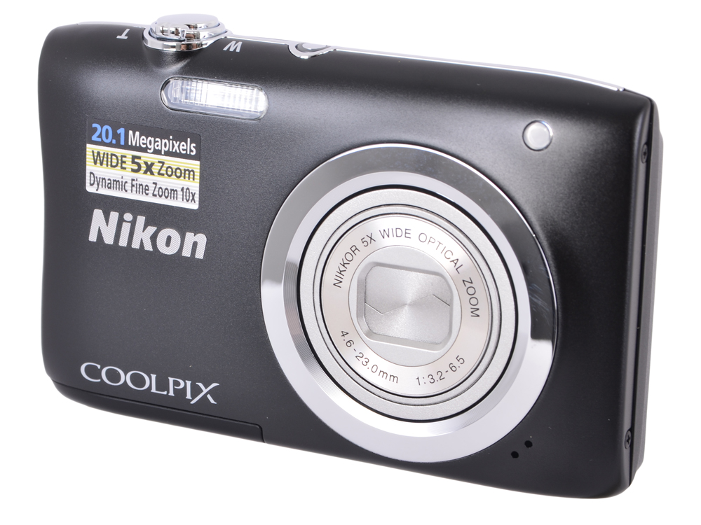 Фотоаппарат Nikon Coolpix A100 Black (20.1Mp, 5x zoom, SD, USB, 2.6) фотоаппарат nikon coolpix a10 purple purple lineart 16mp 5x zoom sd usb 2 7