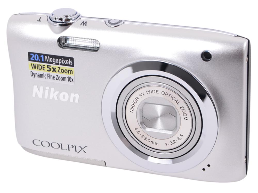 """Фотоаппарат Nikon Coolpix A100 Silver (20.1Mp, 5x zoom, SD, USB, 2.6"""") VNA970E1"""