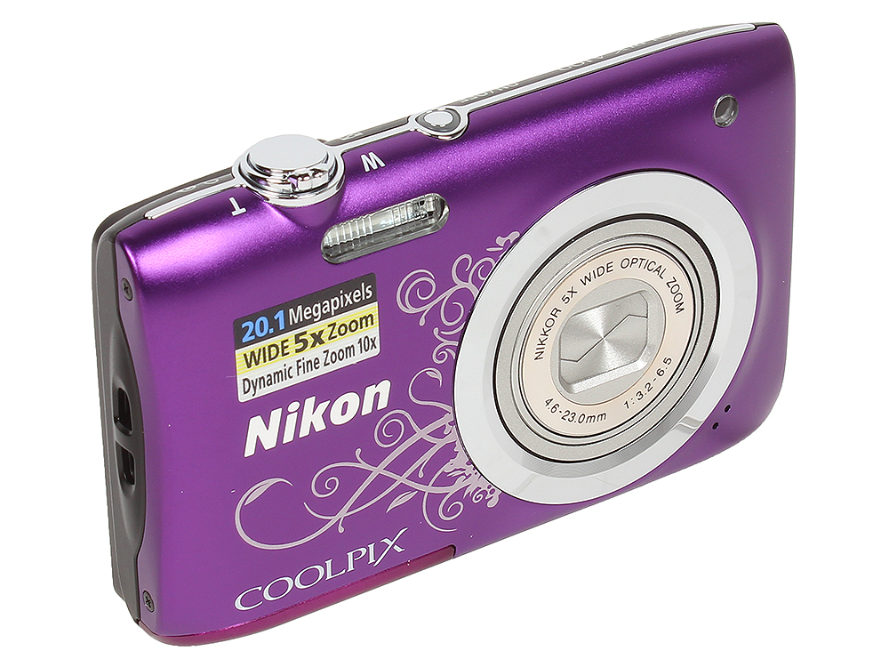 Фотоаппарат Nikon Coolpix A100 Purple Lineart (20.1Mp, 5x zoom, SD, USB, 2.6) фотоаппарат nikon coolpix a10 purple purple lineart 16mp 5x zoom sd usb 2 7