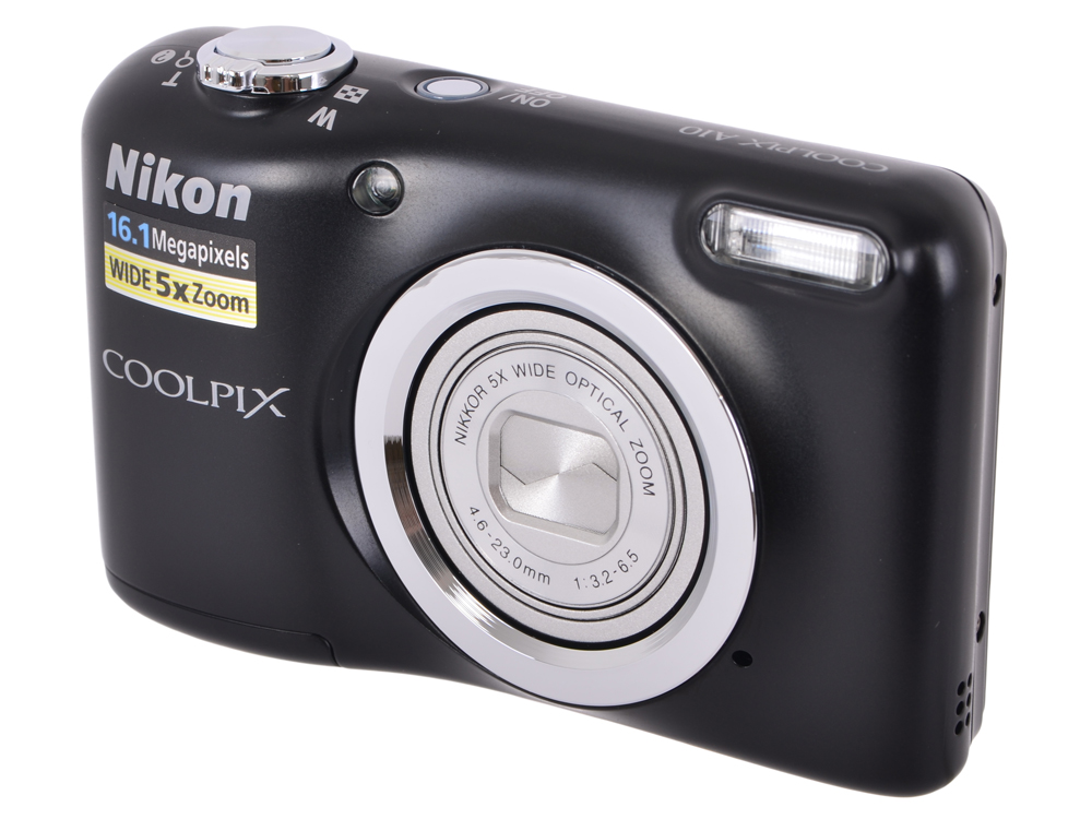 Фотоаппарат Nikon Coolpix A10 Black (16Mp, 5x zoom, SD, USB, 2.7) фотоаппарат nikon coolpix a100 purple 20 1mp 5x zoom sd usb 2 6