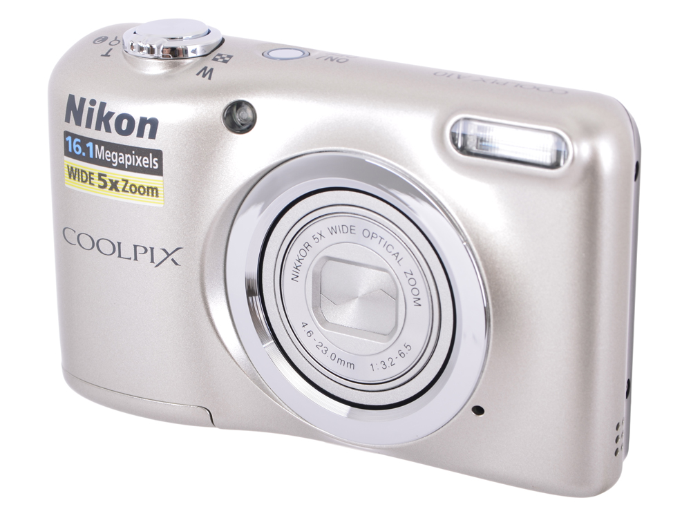 Фотоаппарат Nikon Coolpix A10 Silver фотоаппарат nikon coolpix a10 purple purple lineart 16mp 5x zoom sd usb 2 7