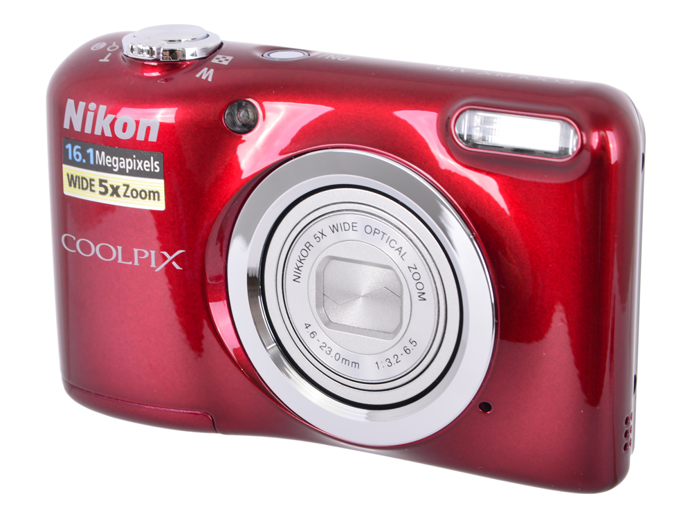 Фотоаппарат Nikon Coolpix A10 Red (16Mp, 5x zoom, SD, USB, 2.7) фотоаппарат nikon coolpix a10