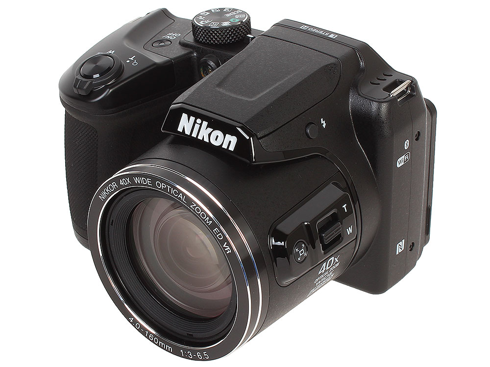 Фотоаппарат Nikon Coolpix B500 Black(16Mp, 40x zoom, 3, 1080P, WiFi, SDHC) фотоаппарат nikon coolpix a10 purple purple lineart 16mp 5x zoom sd usb 2 7