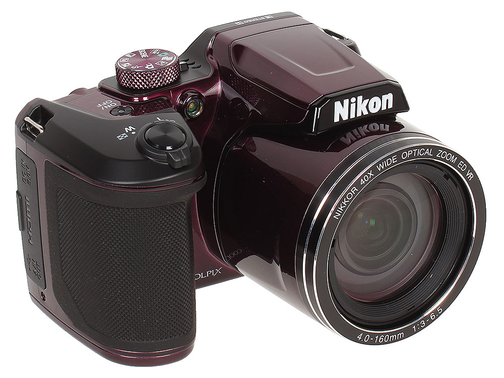 Фотоаппарат Nikon Coolpix B500 Plum (16Mp, 40x zoom, 3, 1080P, WiFi, SDHC) фотоаппарат nikon coolpix a10 purple purple lineart 16mp 5x zoom sd usb 2 7