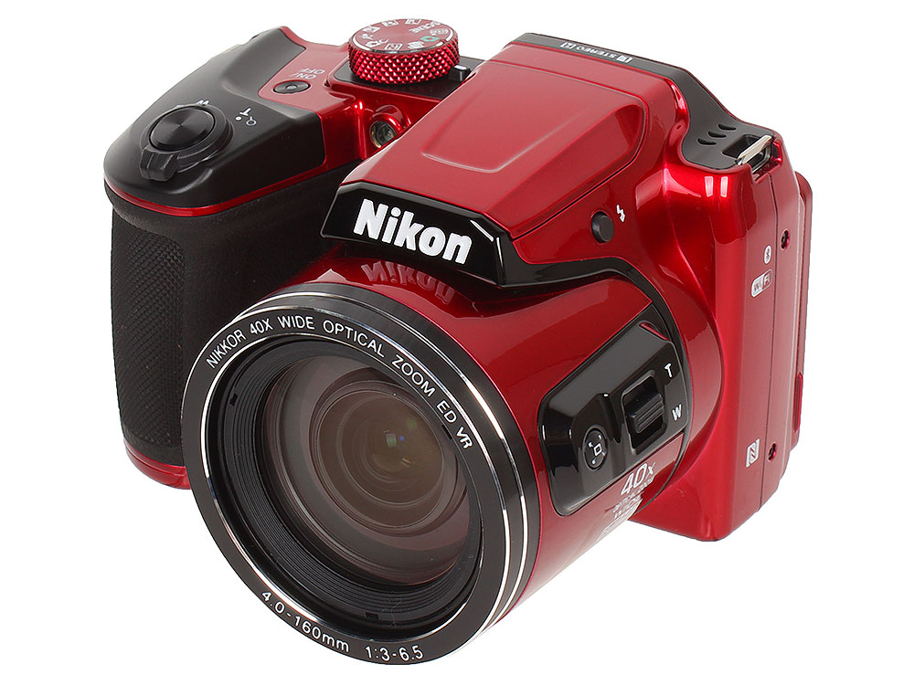 Фотоаппарат Nikon Coolpix B500 Red (16Mp, 40x zoom, 3, 1080P, WiFi, SDHC) фотоаппарат nikon coolpix a10 purple purple lineart 16mp 5x zoom sd usb 2 7