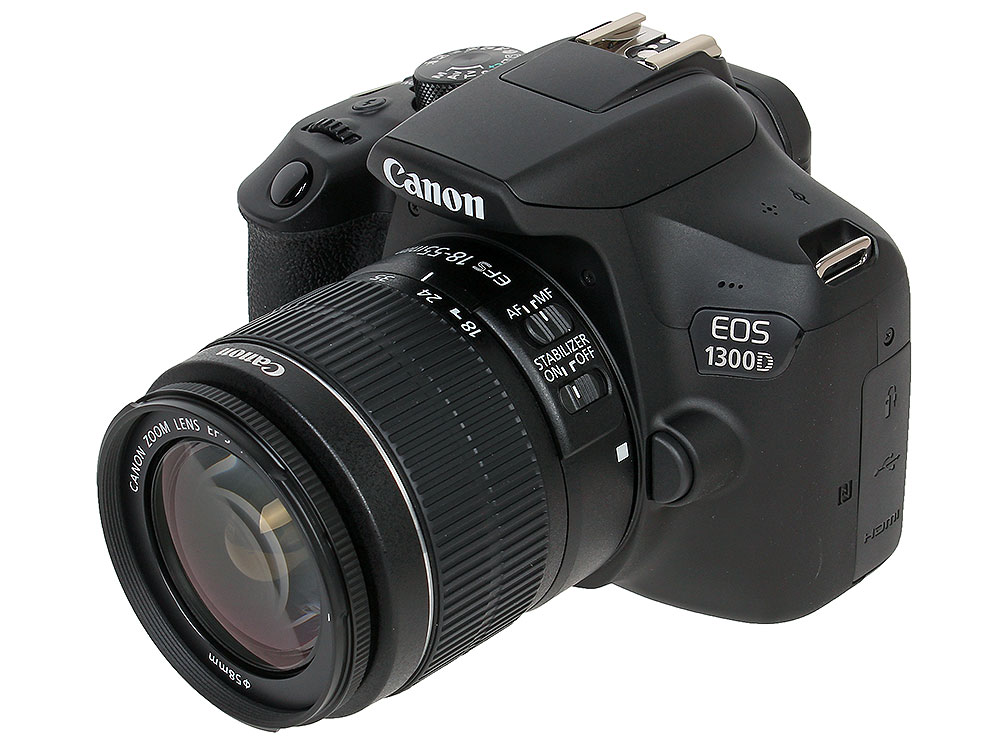 Фотоаппарат Canon EOS 1300D Kit Black 18-55 IS II (зеркальный, 18.0 Mp, SD,SDHC, SDXC,USB, HDMI) фотоаппарат зеркальный canon eos 200d ef s 18 55 is stm kit black