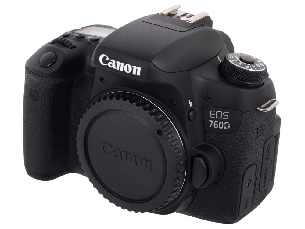 Фотоаппарат Canon EOS 760D Body зеркальный цифровой фотоаппарат canon eos 760d body black