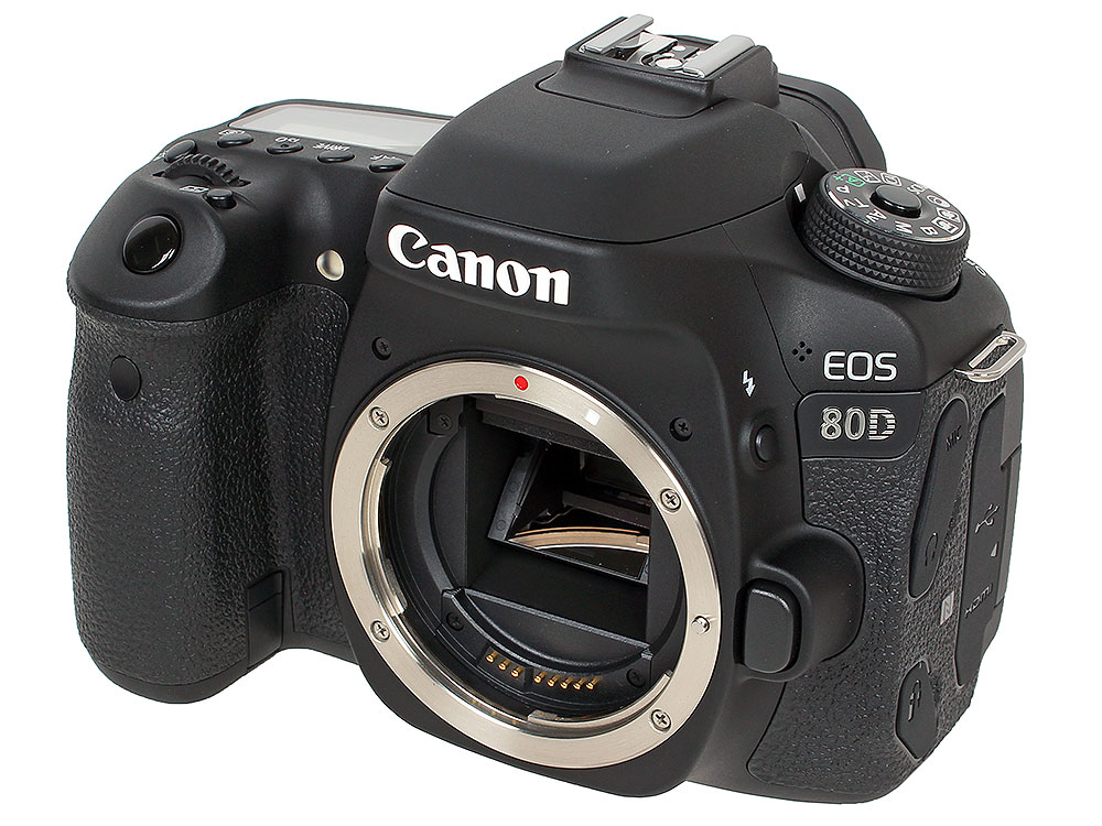 Фотоаппарат Canon EOS 80D Body (зеркальный, 25.8Mp, WiFi, ISO25600, 3, SDHC)