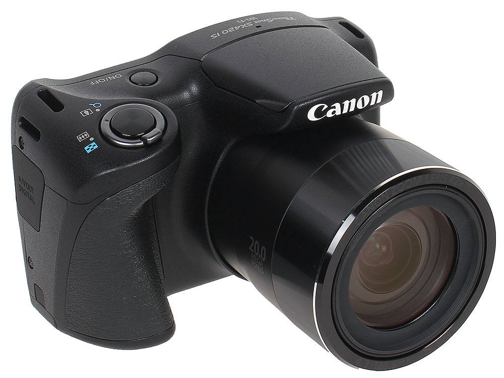 Фотоаппарат Canon PowerShot SX420 IS Black (20,5Mp, 42x zoom, 3'', Оптический стабилизатор, SD, USB) canon powershot sx430 is цфк черный