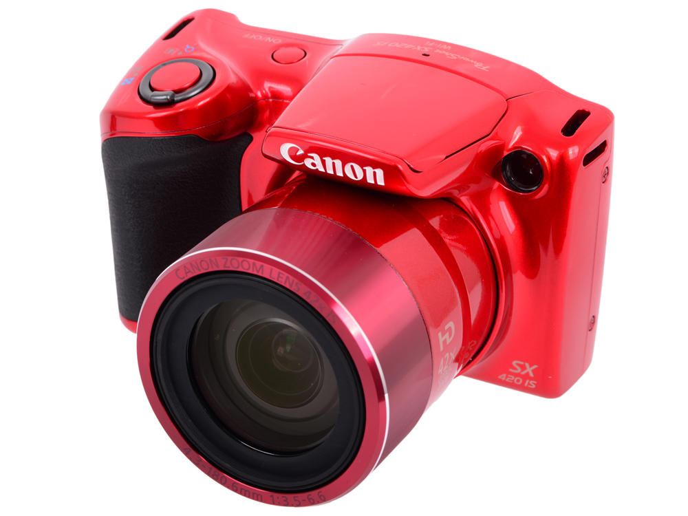 Фотоаппарат Canon PowerShot SX420 IS Red (20,5Mp, 42x zoom, 3'', Оптический стабилизатор, SD, USB) фотоаппарат canon powershot sx730 hs silver 20 3 mp 1 2 3 max 5184x3888 40х zoom wi fi экран 3 300 г