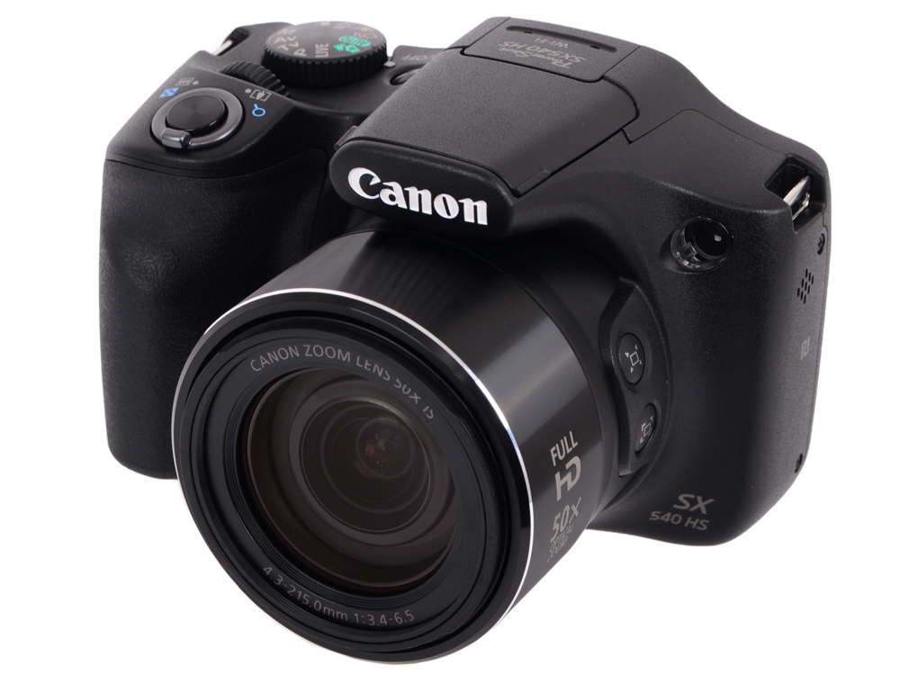 цена на Фотоаппарат Canon PowerShot SX540 HS Black (21.1Mp, 50x zoom, SD, USB, Wi-Fi, Li-Ion)