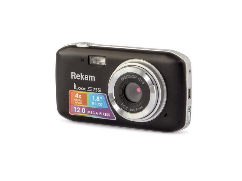 "Цифровая фотокамера Rekam iLook S755i 12 Mpx 1.8"" LCD черный"