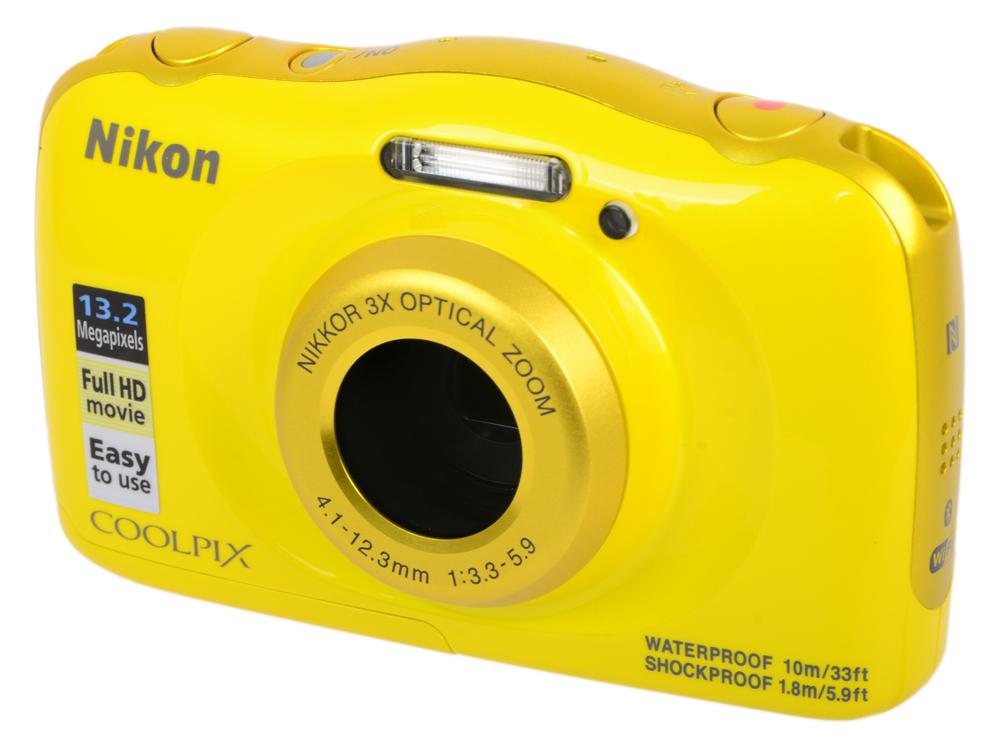 Фотоаппарат Nikon Coolpix W100 Yellow Backpack KIT (13.2Mp, 3x zoom, 2.7, SDXC, Влагозащитная, Ударопрочная) (водонепроницаемый 10 метров) фотоаппарат nikon coolpix a100 black 20 1mp 5x zoom sd usb 2 6