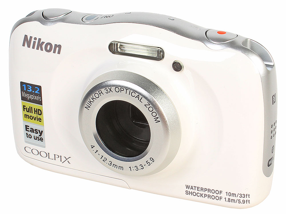 Фотоаппарат Nikon Coolpix W100 White Holiday KIT (13.2Mp, 3x zoom, 2.7