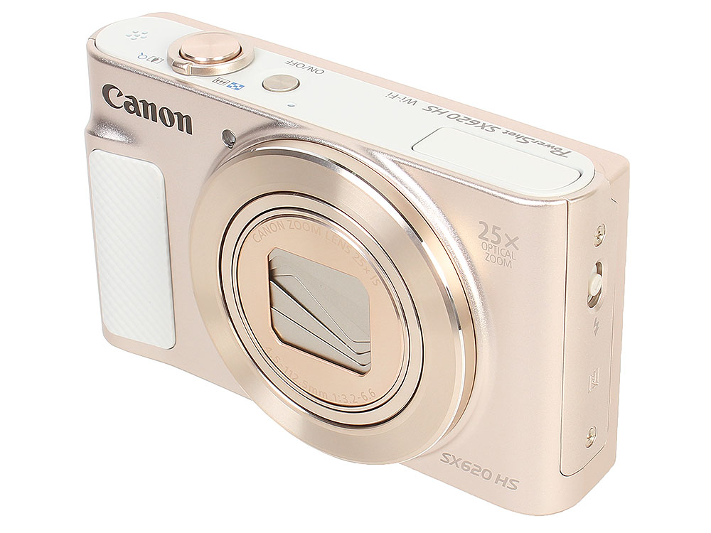 Фотоаппарат Canon PowerShot SX620 HS White (20.3Mp, 25x Zoom, WiFi, SD) фотоаппарат canon powershot sx730 hs silver 20 3 mp 1 2 3 max 5184x3888 40х zoom wi fi экран 3 300 г