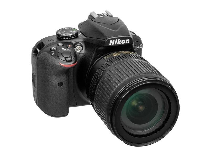 Фотоаппарат Nikon D3400 Black KIT (18-105 VR 24,7Mp, 3