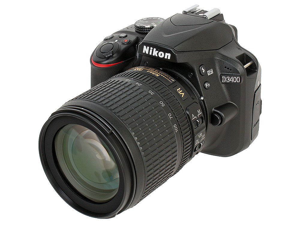 Фотоаппарат Nikon D3400 Black KIT (18-105 VR 24,7Mp, 3 LCD) nikon d3400 kit 18 105 vr black