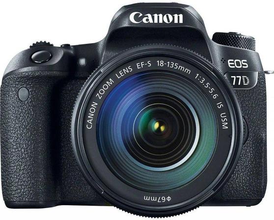 Зеркальная фотокамера Canon EOS 77D KIT 24.2Mpix EF-S 18-135mm f/3.5-5.6 черный 1892C004
