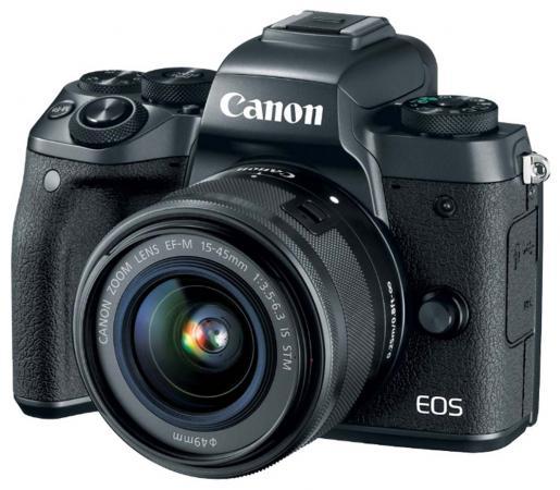 Фотоаппарат Canon EOS M5 24Mpix 3 1080p WiFi 18-150 IS STM f/ 3.5-6.3 LP-E17 черный 1279C022