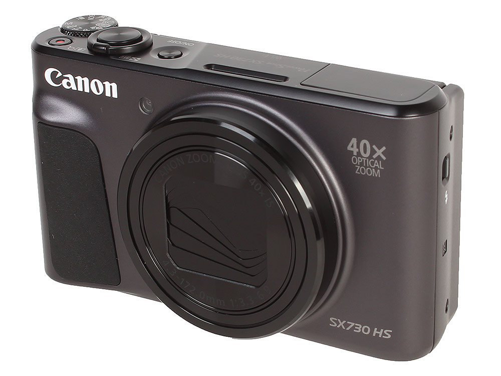 Фотоаппарат Canon PowerShot SX730 HS Black (20.3Mp, zoom 40х, SD, SDHC, USB, WiFi) фотоаппарат canon powershot sx730 hs silver 20 3 mp 1 2 3 max 5184x3888 40х zoom wi fi экран 3 300 г