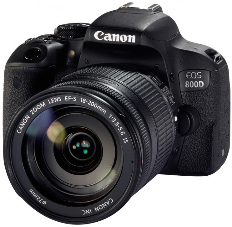 Зеркальная фотокамера Canon EOS 800D EF-S 18-200mm 24Mp черный 1895C031