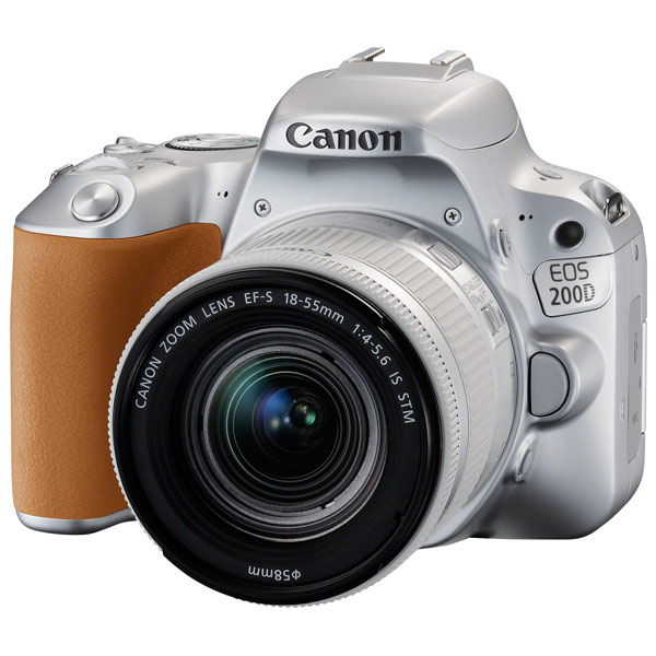 Фотоаппарат Canon EOS 200D KIT Silver (зеркальный, 24,2Mp, EF18-55 IS STM, 3, SDHC)