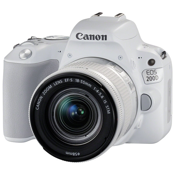 цена на Фотоаппарат Canon EOS 200D KIT White (зеркальный, 18Mp, EF18-55 IS STM, 3, SDHC)