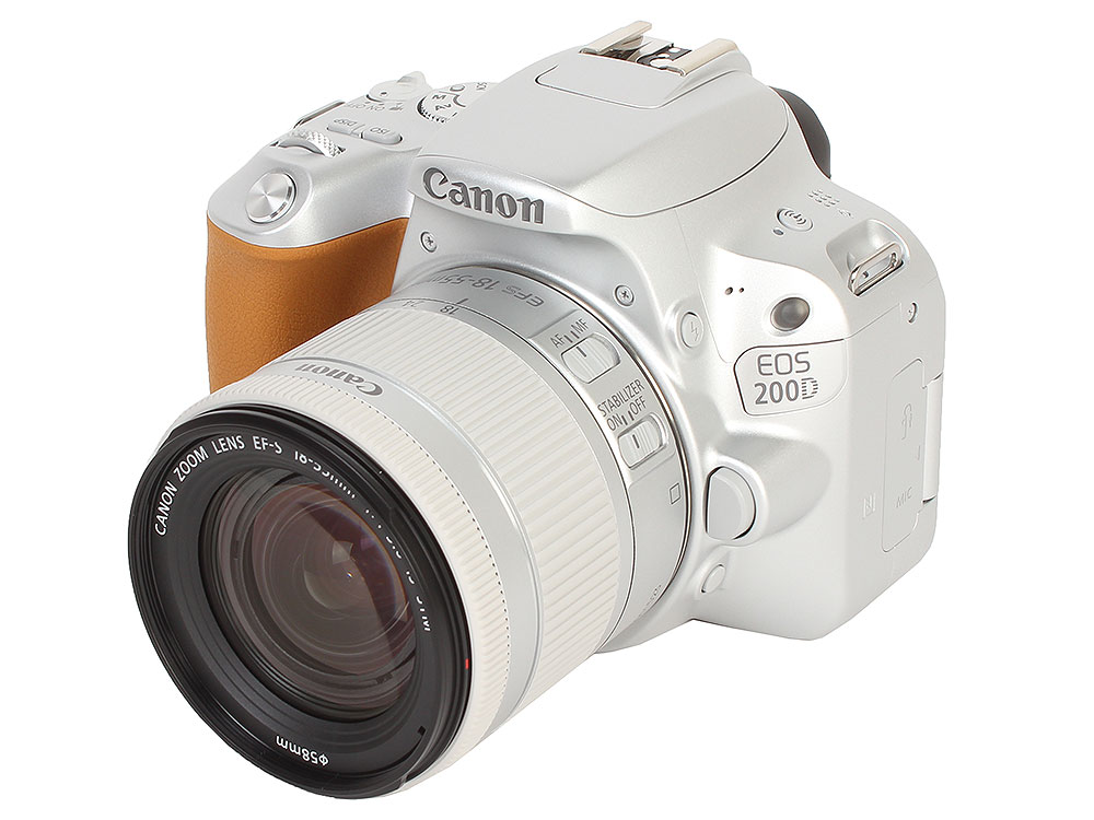 Фотоаппарат Canon EOS 200D KIT Silver (зеркальный, 24,2Mp, EF18-55 IS STM, 3, SDHC) фотоаппарат canon eos m50 kit ef m 18 150mm f 3 5 6 3 is stm черный