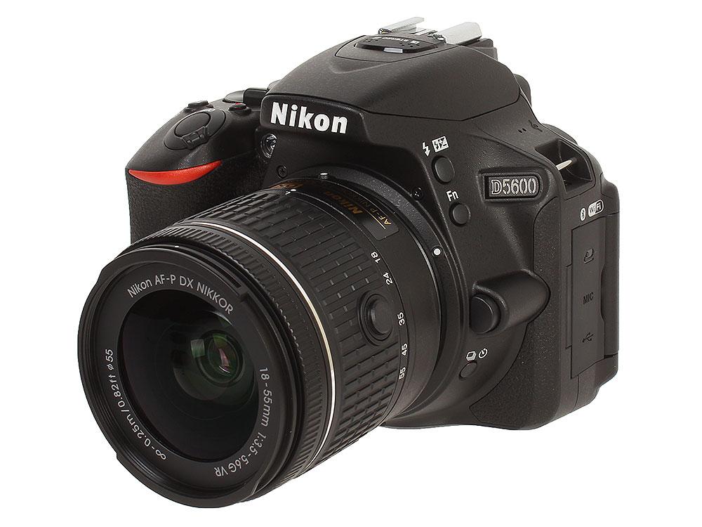 Зеркальный фотоаппарат Nikon D5600 KIT AF-P 18-55 VR + AF-P 70-300 VR Black 24.8 Mp, / max 6000x4000 / Wi-Fi / поворотный экран 3 / 415 г