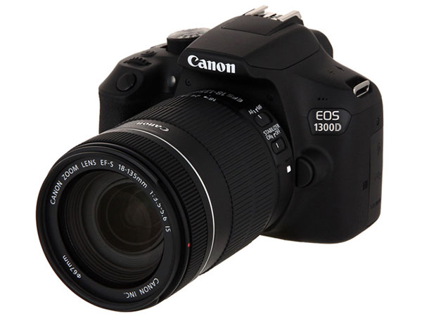 Фотоаппарат Canon EOS 1300D Kit Black EF-S 18-135mm f/3.5-5.6 IS hdv e50d dual ir control hdmi extenders receiver transmitter kit black