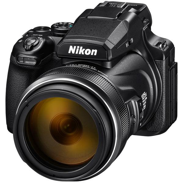 Фотоаппарат Nikon Coolpix P1000 Black 16 Mp, 1/2.3 / max 4608х3456 / 125x zoom / Wi-Fi / экран 3.15 / 1415 г pannovo dv m600 b 0 6 tft 5 0 mp cmos 1080p 120 degree waterproof sports camera w ap wi fi black