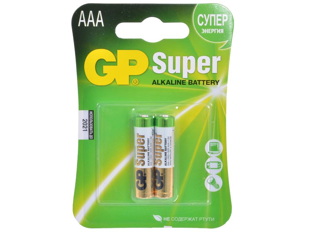 Батарея GP 24A 2шт. Super Alkaline (AAA) батарея gp 15a 2шт super alkaline aa