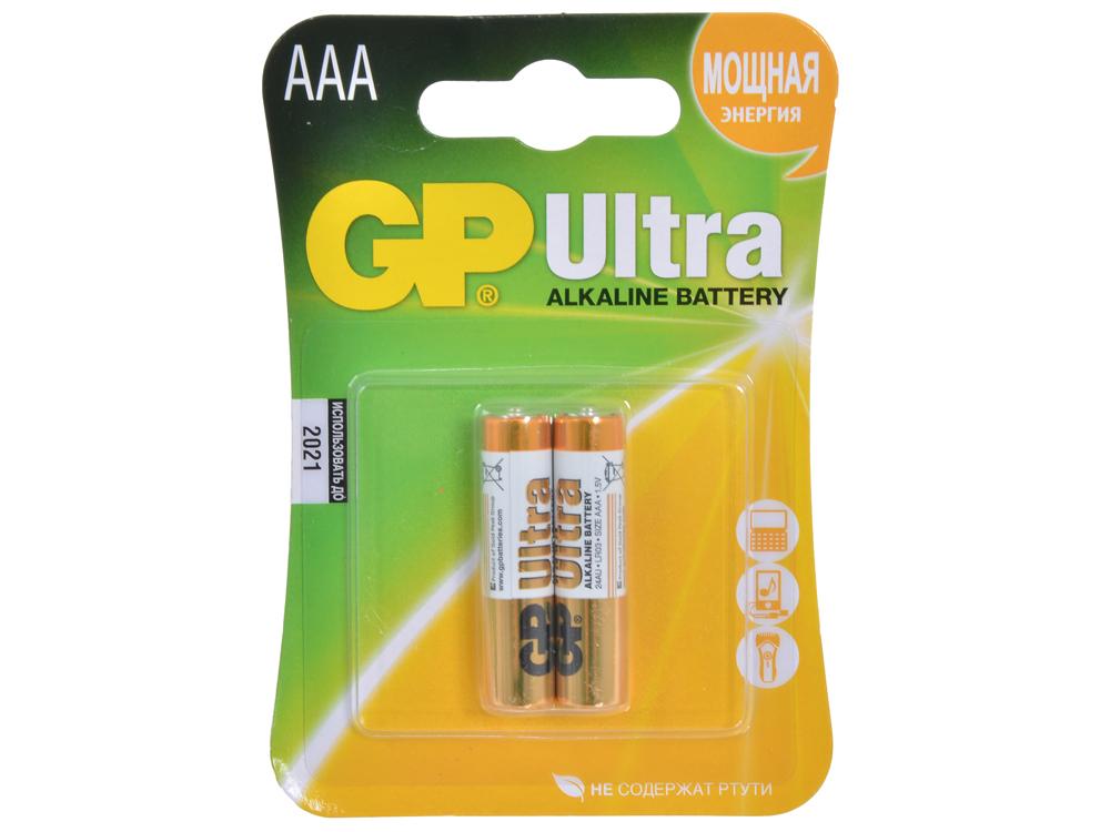 Батарея GP 24AU 2шт. Ultra Alkaline (AAA) батарея gp 15a 2шт super alkaline aa