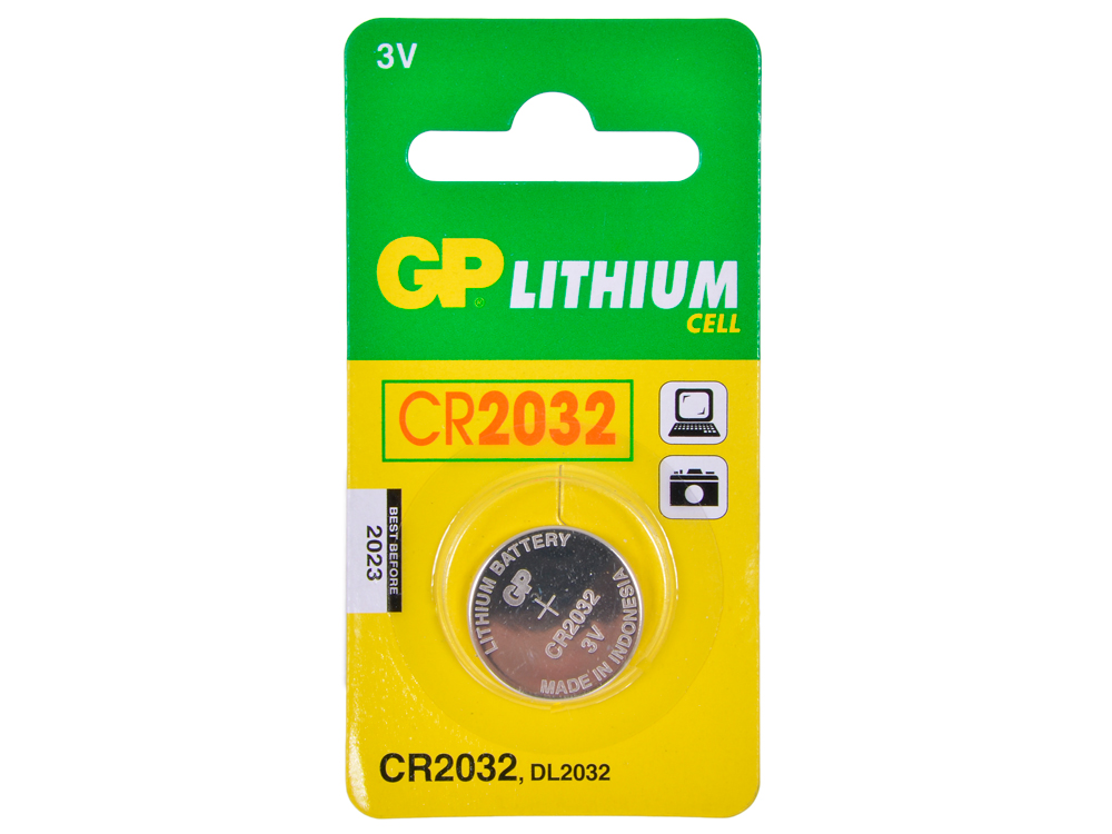 Элемент питания GP CR2032-C1 (для биоса мат. плат) батарейка cr2032 gp c1 7c1