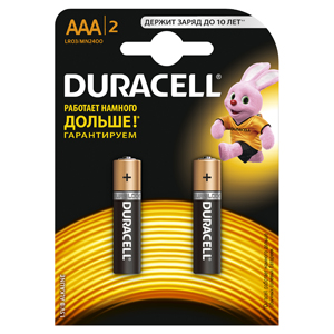 Батарейки DURACELL LR03-2BL BASIC Блистер 2 шт (AAA) батарейка duracell lr03 18bl basic 18 шт