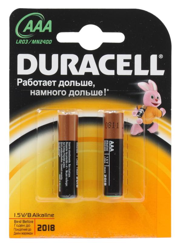 Батарейки DURACELL LR03-2BL BASIC Блистер 2 шт (AAA)