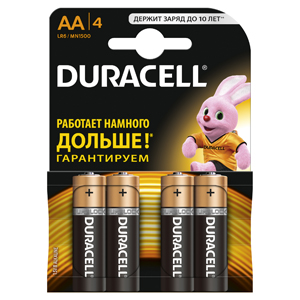 Батарейки DURACELL  LR6-4BL BASIC (80/240/20400)  Блистер 4 шт   (AA) duracell cef14 4 hour charger 2 x aa1300mah