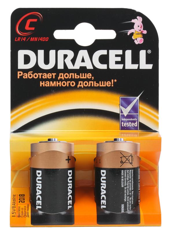 Батарейки DURACELL  LR14-2BL  (20/60/6000)  Блистер  2 шт