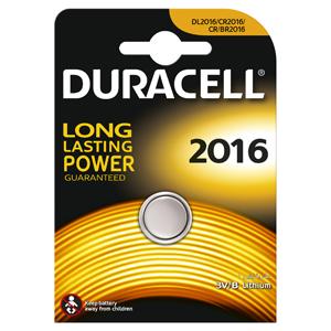 Батарейки DURACELL  CR2016  (10/100/9600) Блистер  1 шт